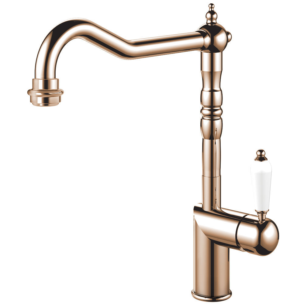 Cobre Sistema De Torneiras - Nivito CL-170 White Porcelain Handle Color