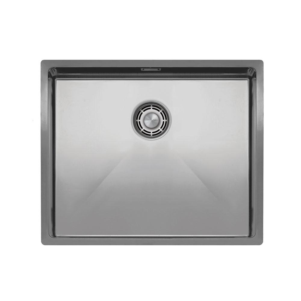 Aço Inoxidável Bacia De Cozinha - Nivito CU-500-B Brushed Steel Strainer ∕ Waste Kit Color