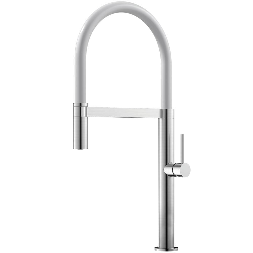 Aço Inoxidável Torneira De Cozinha Mangueira de arrancamento / Escovado/Branco - Nivito SH-300