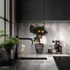 Preto cozinha agua torneira